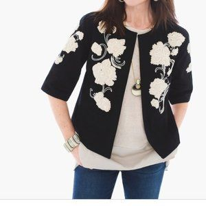 Chico's Artisan Embroidered Jacket
